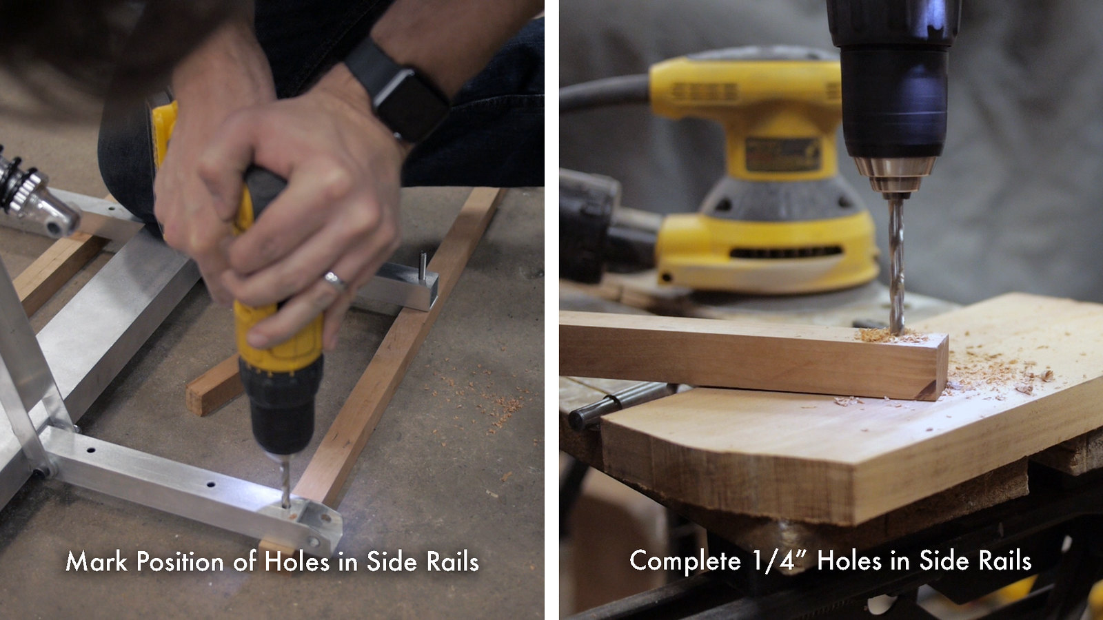 Drill Holes in Side Rails