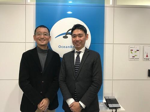 オーシャンブリッジにて新任取締役の中田さんと