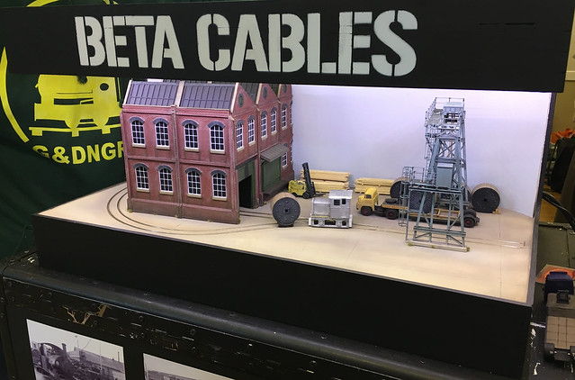 Beta Cables in 4mm:ft scale, 14mm gauge by Stuart Brewer
