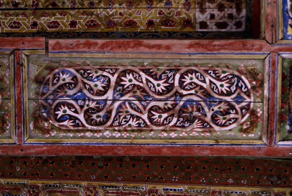 Détail du plafond de la Casbah de Ouarzazate.