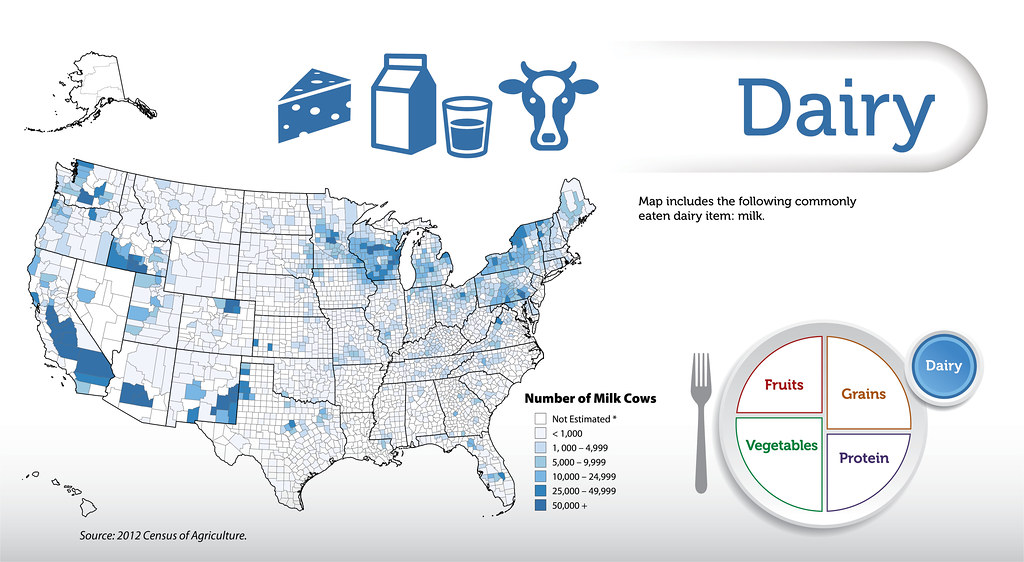Dairy This Map Includes The Following Commonly Eaten Dairy Flickr - Where are the dairyon the us map
