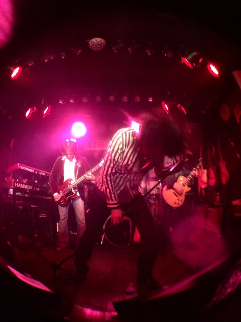 TONS OF SOBS live at Crawdaddy Club, Tokyo, 12 Mar 2017 (fisheyed iphone photo)