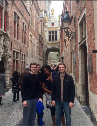 A few of my classmates and me in Bruges