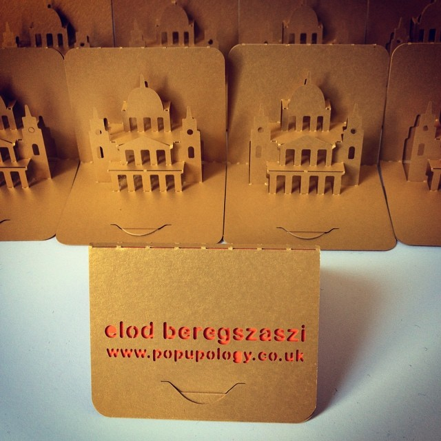 Popup business card made from waste paper off cuts rec flickr recycling is beautiful popup business card made from waste paper off cuts recycling is beautiful reheart Choice Image