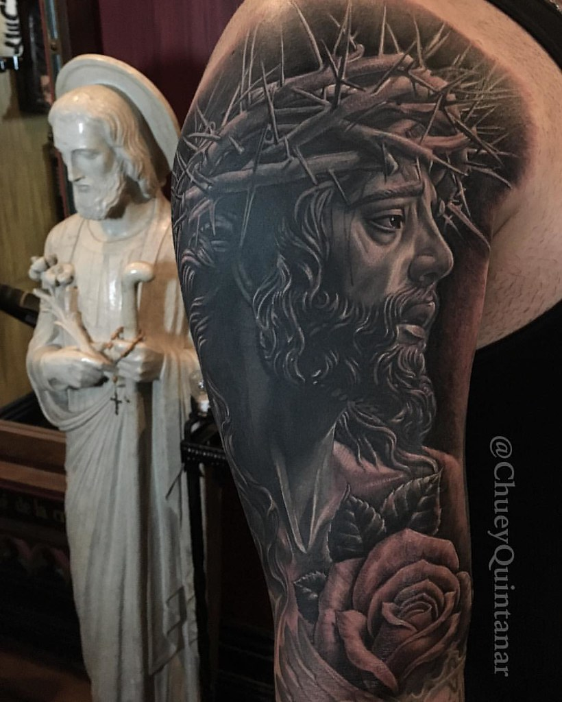 Coverup Jesus Christ tattoo. #CHUVINCI #ChueyQuintanar . @… | Flickr