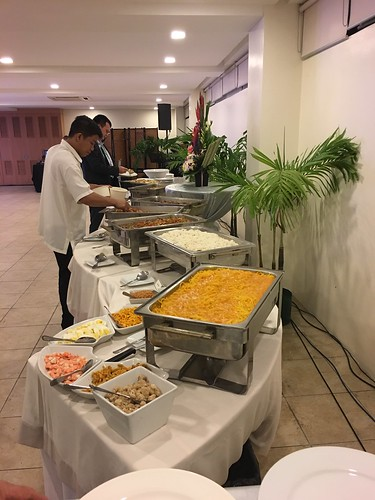 buffet table,  Manila Golf Club
