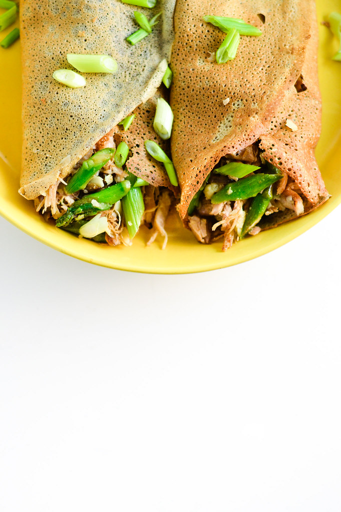 Buckwheat Crepes with Chicken, Asparagus, and Gruyere | Things I Made Today