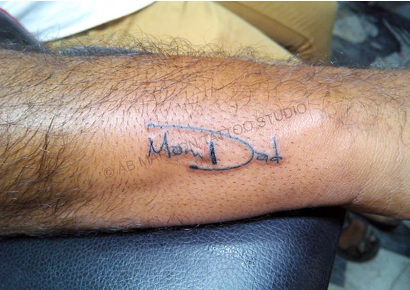 Mom Dad Tattoo 1 Tattoo No 877 Ab Maroon Tattoo Studio Flickr
