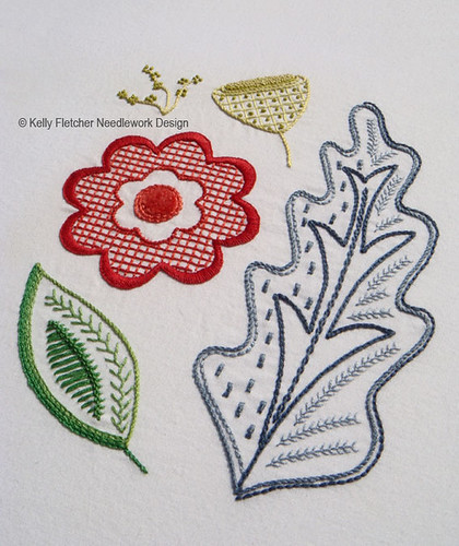 Oakenfold a modern jacobean hand embroidery pattern flickr