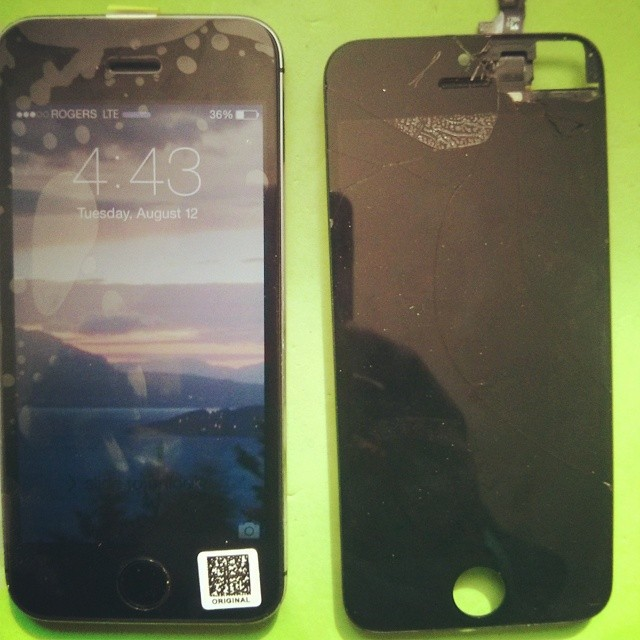 Apple iPhone 5S Shattered Screen Replacement Repair Servic…   Flickr