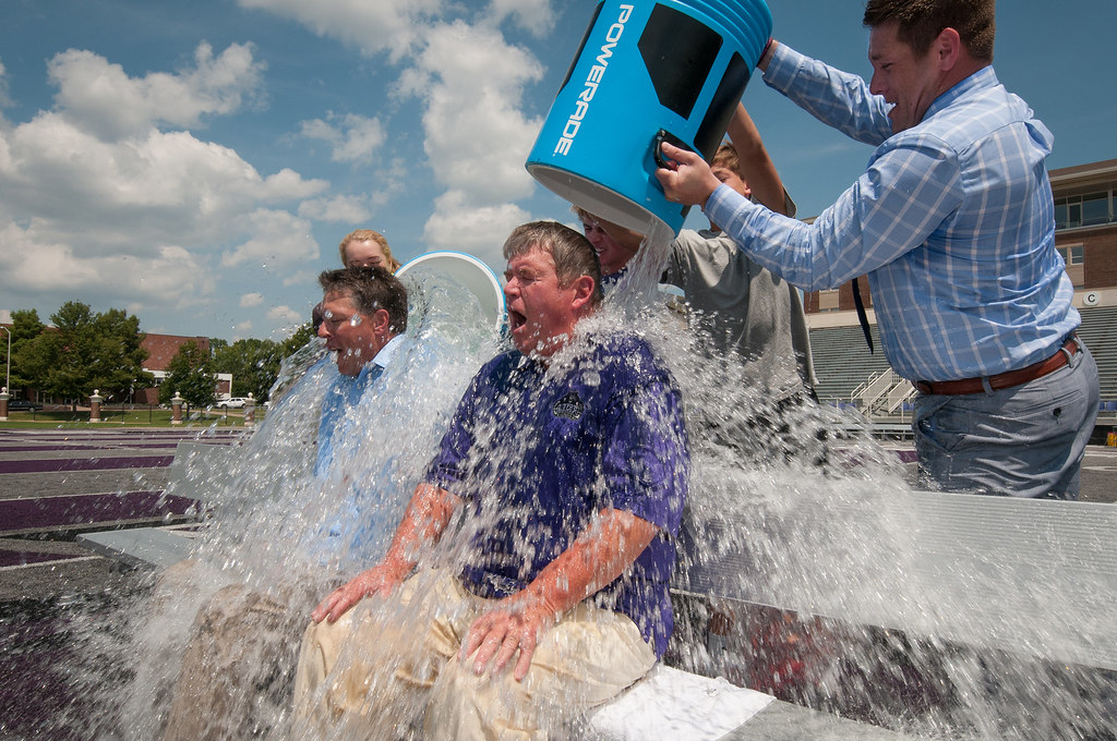 ice bucket challenge university of central arkansas direct flickr