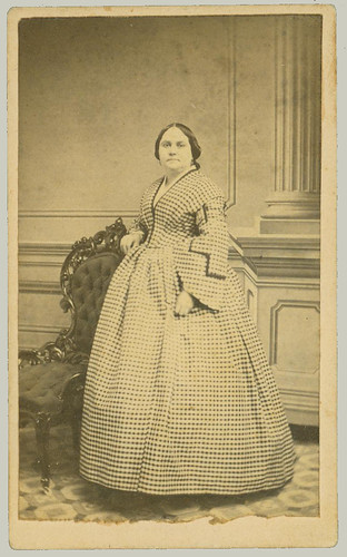 cdv woman in long dress