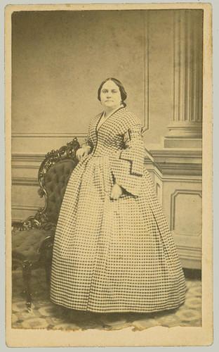 cdv woman in long dress