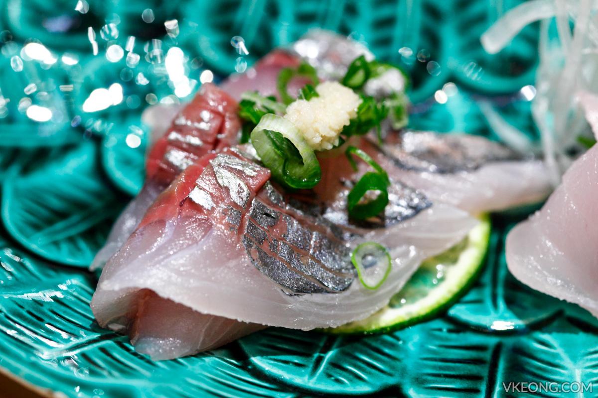 Sushi Azabu Aji Sashimi