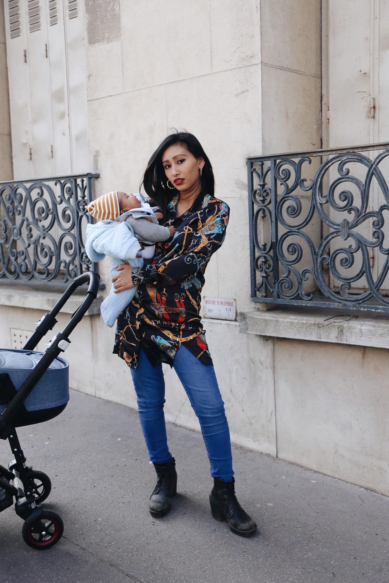 blog mode paris chemise foulard