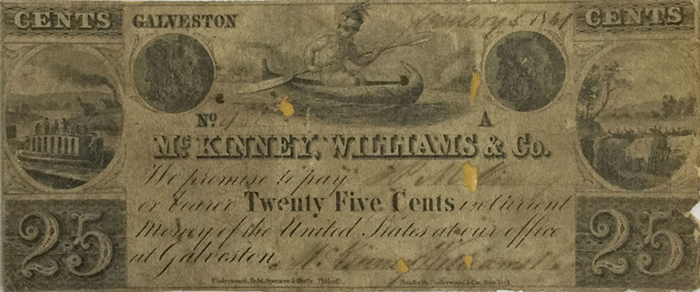 McKinney, Williams, and Company currency, 1841