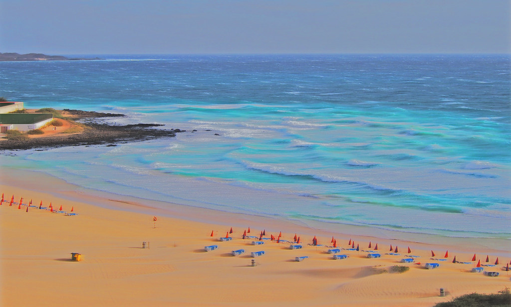 Fuerteventura. The sea and the beach. Mar y playa.