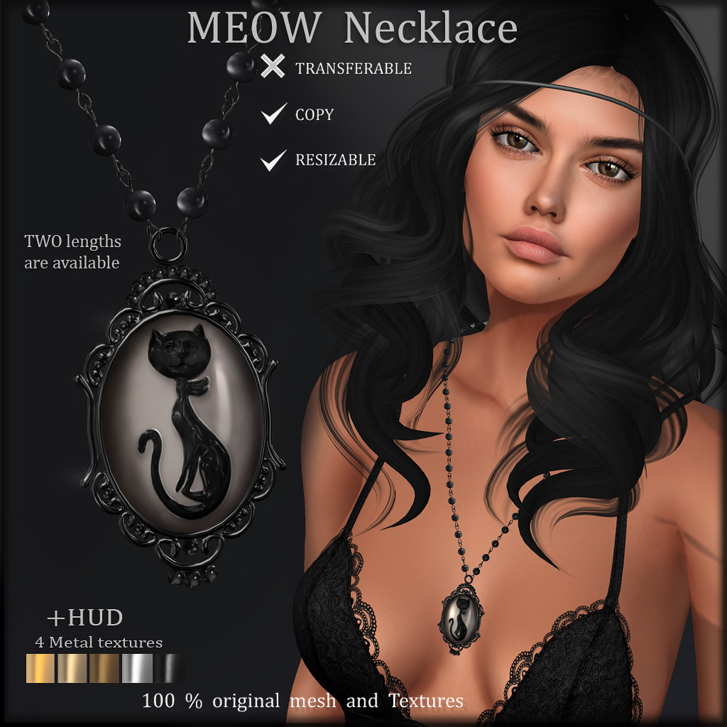 MEOW Necklace ads