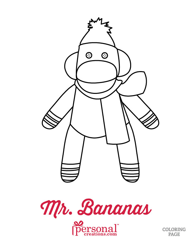 Christmas Sock Monkey Coloring Page | www.personalcreations.… | Flickr