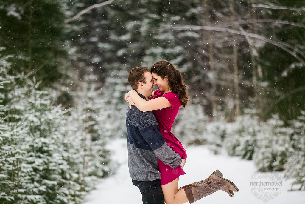 Prince George Winter Engagement Photos