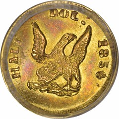 1854 Round Half Dol. reverse