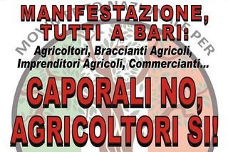 Noicattaro. Manifestazione agricoltori front