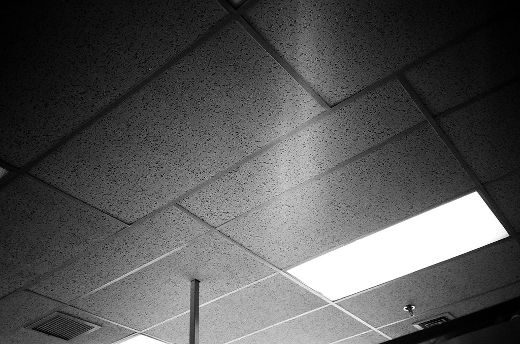 By Jchal Some Drop Ceiling Tiles In An Office Building. | By Jchal