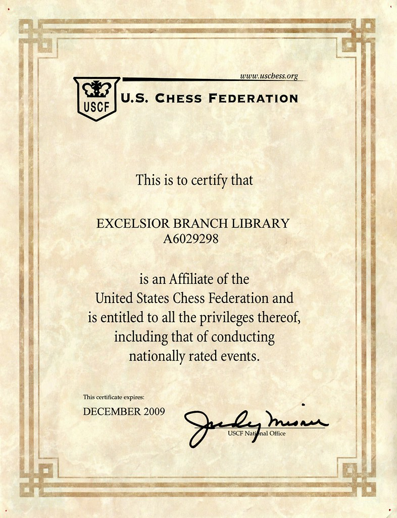 Certification Of Excelsior Branch Library As An Affiliate Flickr