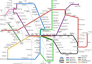 Leeds Tube map v3 | by Rich Daley