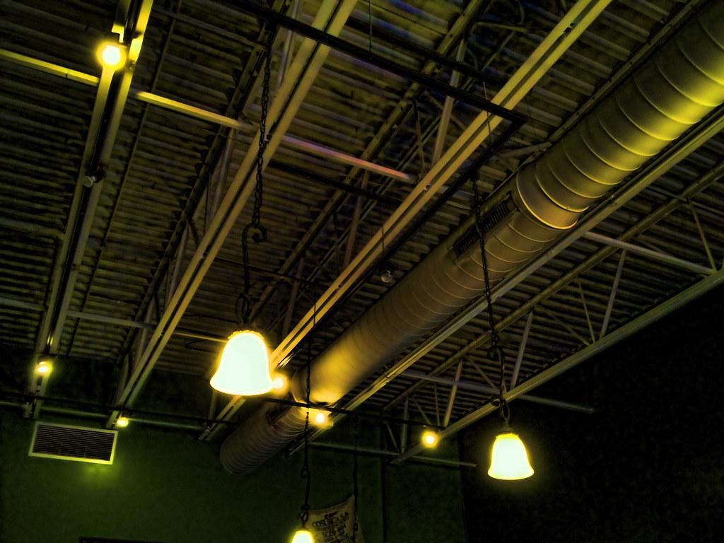 open ceiling lighting. Restaurant Open Ceiling | By SteveMather Lighting