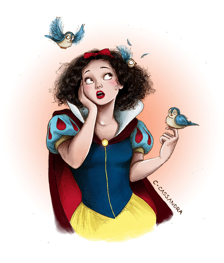 Disney Princesses The hair struggle is real by C. Cassandra - Snow White