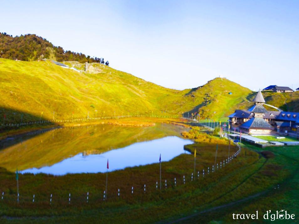 Morning view at Prashar Lake