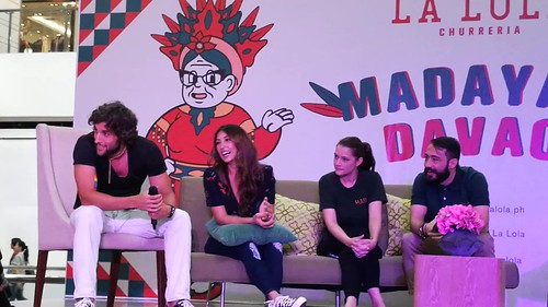 (VIDEO) DavaoFoodTripS.com | Maria Perine, Solenn Heussaff & Nico Bolzico store owners -  Hola Amigos & Amigas... La Lola Churreria Opens at SM Lanang Premier!