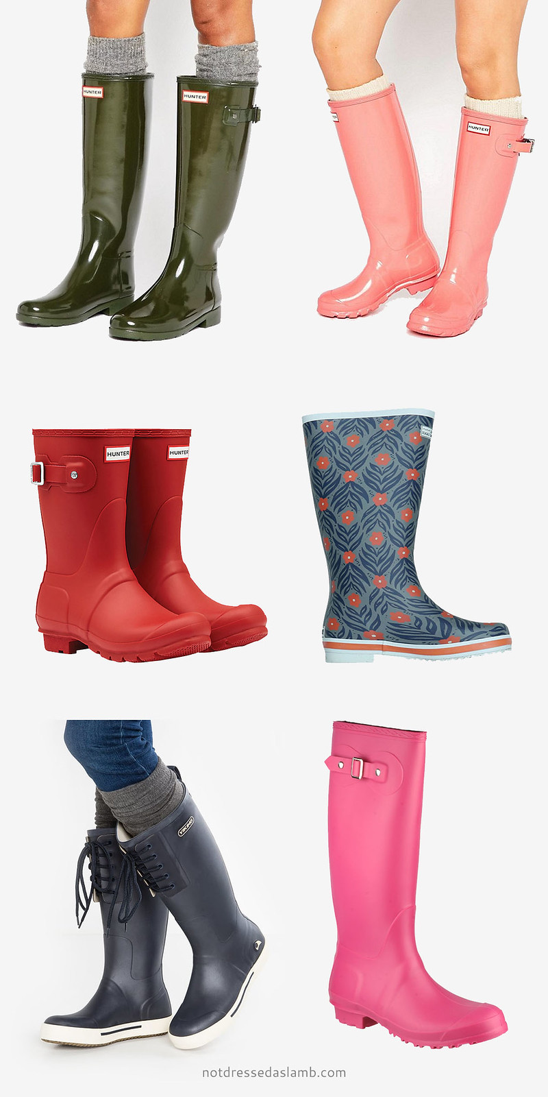 Capsule wardrobe: 18 colourful and stylish Wellington boots / welly boots / wellies to shop | Not Dressed As Lamb
