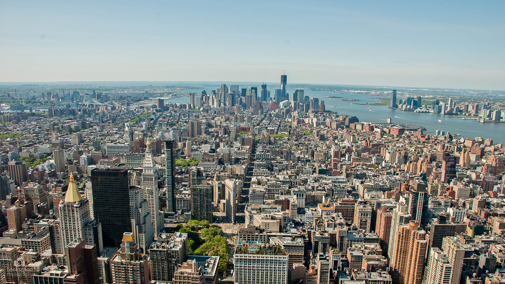 New York Skyline From The Empire State Building 4k Wallp Flickr