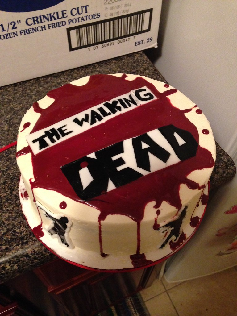 Walking Dead Cake With Edible Blood The Zombies Are Hand Flickr