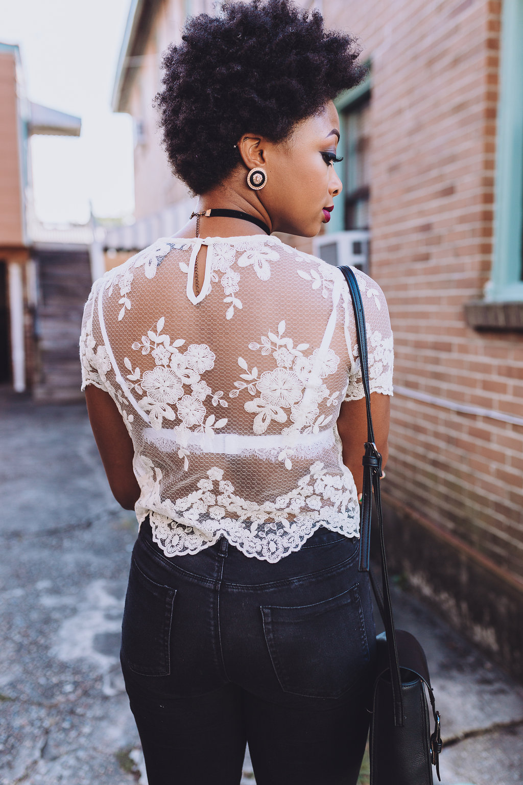 how to style a lace blouse, the beauty beau