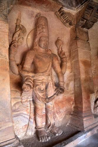 Cave 3. Harihara (Shiva & Vishnu)