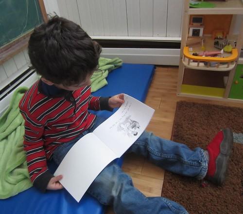 a reader reading