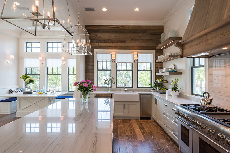 Plank Wall Kitchen | Beach House Decor