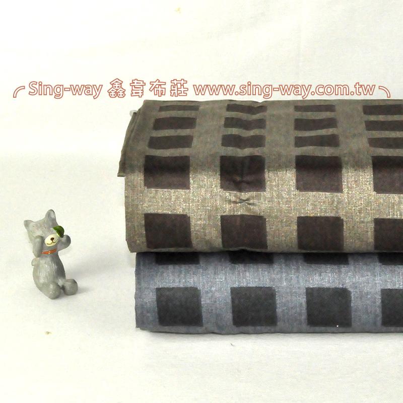 格紋方塊  簡約 精梳棉床品床單布料 CA490354