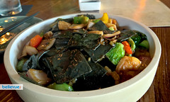 and-made Squid Ink Seafood Noodles - Peony Kitchen | Bellevue.com