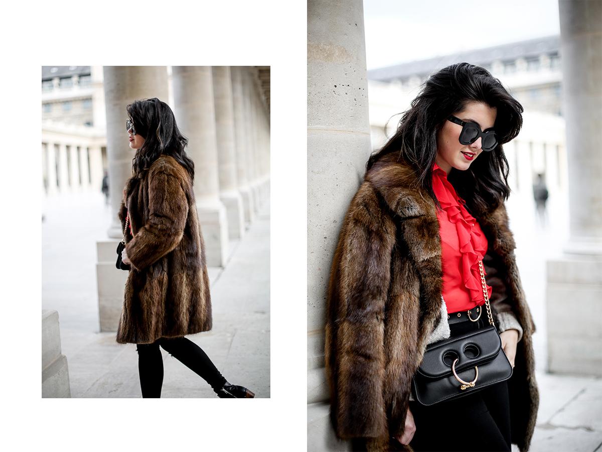 camisa-roja-volantes-pipa-de-la-paz-abrigo-pelo-vintage-look-studded-boots-myblueberrynightsblog13