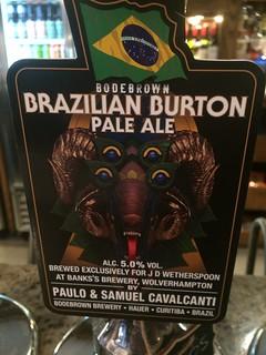 Bodebrown (Banks's), Brazillian Burton Pale Ale, Brazil (England)