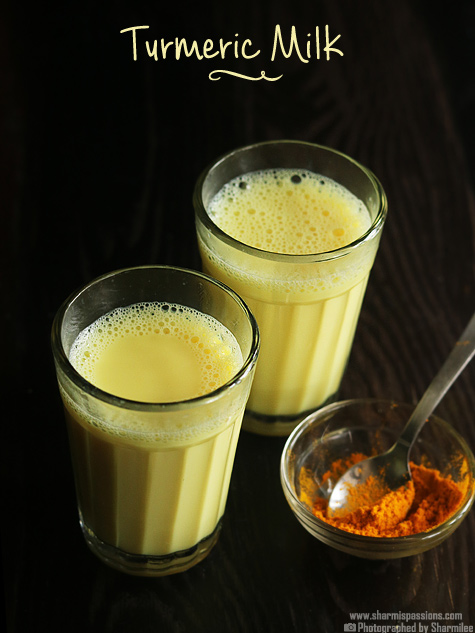 Turmeric milk recipe