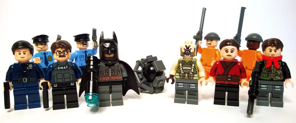 The Dark Knight Rises | A few minifigures based on character… | Flickr