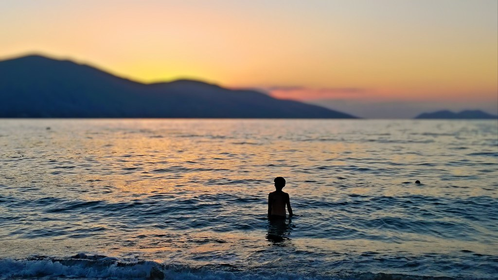 Sunset at Vlore, Albania