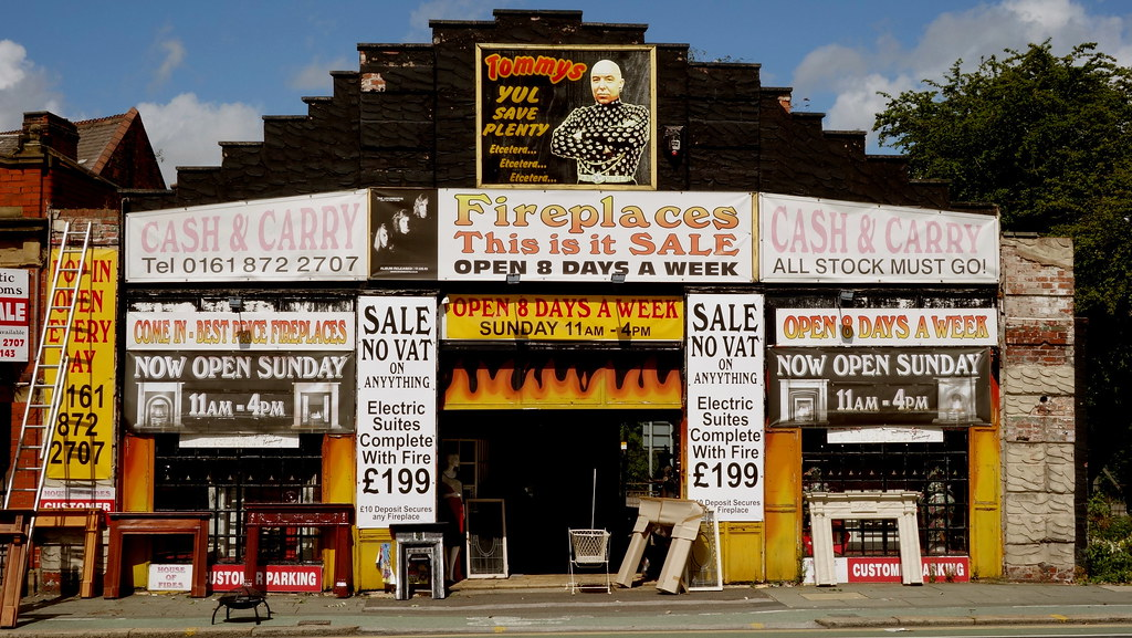 Tommys Y Ull Save Plenty Fireplace Shop In Old Traffor Flickr