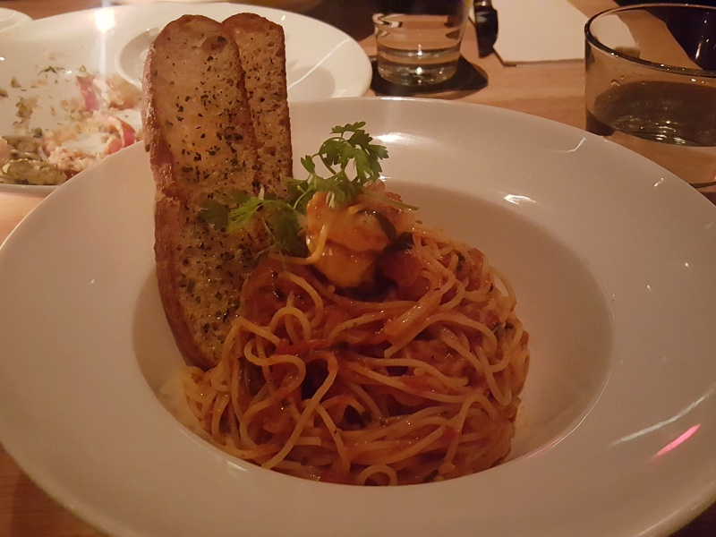 Cactus Club prawn spaghettini