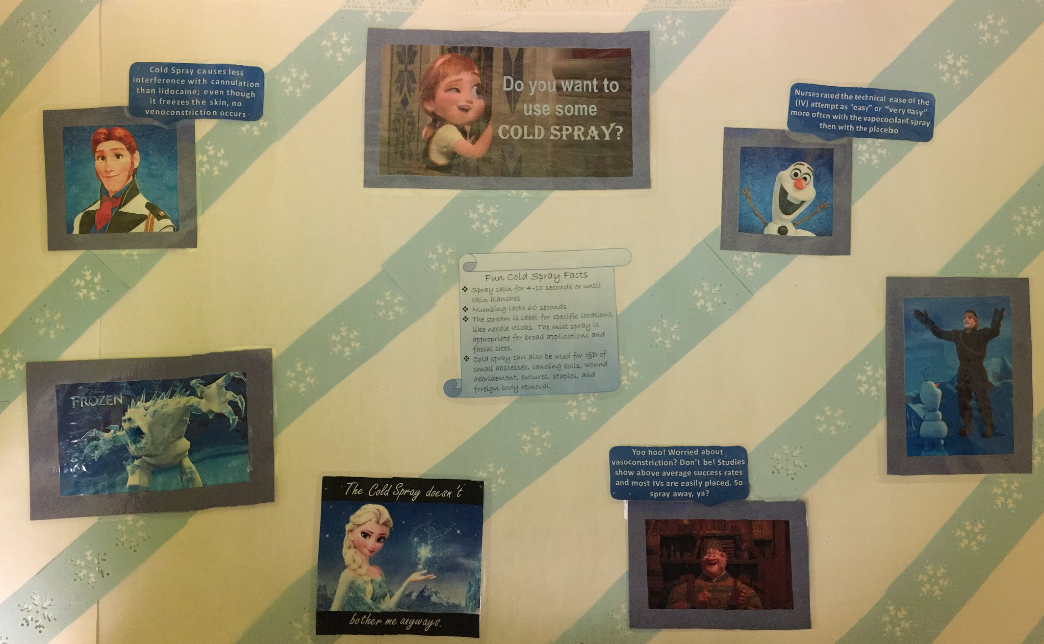 Frozen Spray Bulletin Board
